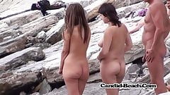 Adorable in nature's garb women caught on spy web camera in the sea