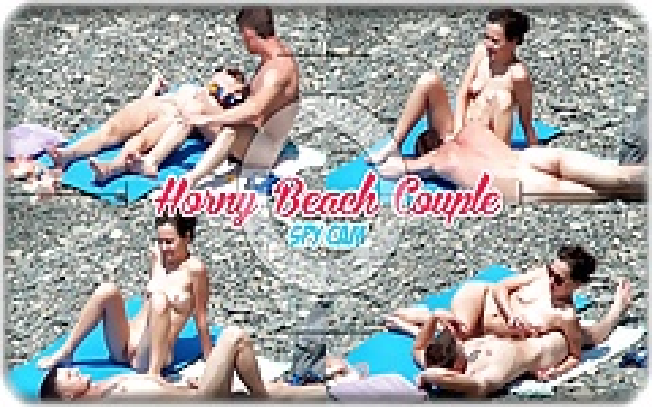 Horny Couple Masturbate Play at nudist beach Voyeur Cam Spy
