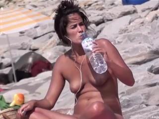 Sexy Nudist Teens Beach Voyeur HD Video